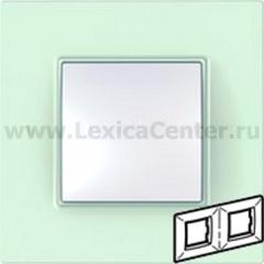 Рамка 2 поста матовое стекло Unica Quadro (Schneider Electric) MGU2.704.17