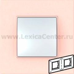 Рамка 2 поста розовый жемчуг Unica Quadro (Schneider Electric) MGU4.704.37