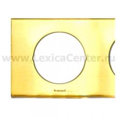 Рамка 2 поста золото Celiane (Legrand) 69132