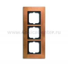 Рамка 3 пост бронза carat (ABB) [BJE1723-821] 1754-0-4260