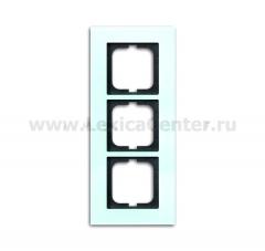 Рамка 3 пост стекло carat (ABB) [BJE1723-810] 1754-0-4252