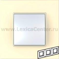 Рамка 3 поста бежевый Unica Quadro (Schneider Electric) MGU2.706.25