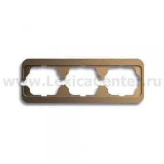 Рамка 3 поста горизонтальная бронза alpha nea (ABB) [BJE1723-21] 1754-0-1728