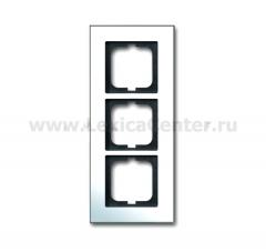 Рамка 3 поста горизонтальная хром carat (ABB) [BJE1723-826] 1754-0-4272
