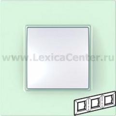 Рамка 3 поста матовое стекло Unica Quadro (Schneider Electric) MGU2.706.17