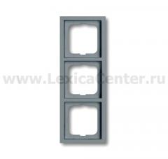 Рамка 3 поста серый future stone (ABB) [BJE1723-189] 1754-0-4247