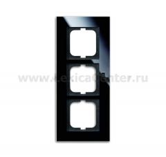Рамка 3 поста стекло черное carat (ABB) [BJE1723-825] 1754-0-4324