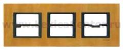 Рамка 3 поста светлая кожа Unica Class (Schneider Electric) MGU68.006.7P1