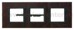 Рамка 3 поста темная кожа Unica Class (Schneider Electric) MGU68.006.7P2