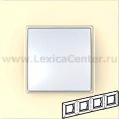 Рамка 4 поста бежевый Unica Quadro (Schneider Electric) MGU2.708.25