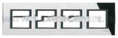 Рамка 4 поста черное стекло Unica Class (Schneider Electric) MGU68.008.7C1