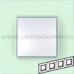 Рамка 4 поста матовое стекло Unica Quadro (Schneider Electric) MGU2.708.17