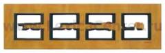 Рамка 4 поста светлая кожа Unica Class (Schneider Electric) MGU68.008.7P1