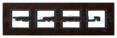 Рамка 4 поста темная кожа Unica Class (Schneider Electric) MGU68.008.7P2