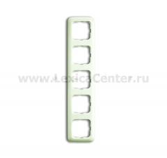 Рамка 5 постов белый Duro 2000 SI (ABB) [BJE2515-212] 1725-0-1467