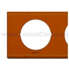 Рамка 5 постов кожа крем карамель Celiane (Legrand) 69290