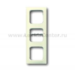 Рамка для кабель-каналов 3 поста белый Duro 2000 SI (ABB) [BJE2513-212 K-101] 1725-0-1460