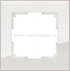 Рамка на 1 пост (дымчатый,стекло) Werkel Favorit WL01-Frame-01