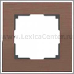Рамка на 1 пост (коричневый алюминий) Werkel Aluminium WL11-Frame-01