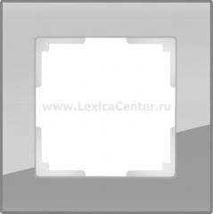 Рамка на 1 пост (серый,стекло) Werkel Favorit WL01-Frame-01