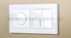 Рамка на 2 поста (белая,стекло) Werkel Favorit WL01-Frame-02
