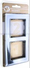 Рамка на 2 поста (серебряный) Werkel Edel WL09-Frame-02