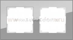 Рамка на 2 поста (серый,стекло) Werkel Favorit WL01-Frame-02