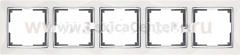 Рамка на 5 постов (белый) Werkel Snabb WL03-Frame-05-white