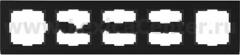 Рамка на 5 постов (черный) Werkel Stark WL04-Frame-05-black