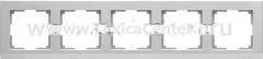 Рамка на 5 постов (серебряный) Werkel Stark WL04-Frame-05