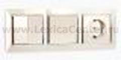 Рамка на 5 постов (слоновая кость) Werkel Snabb WL03-Frame-05-ivory