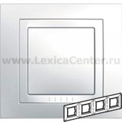 Рамка Unica белая 4-ая MGU2.008.18