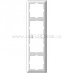 Рамка Wessen 59 четырехместная цвет белый (KD-4-18)