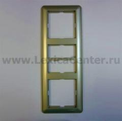 Рамка Wessen 59 трехместная шампань (KD-3-48)