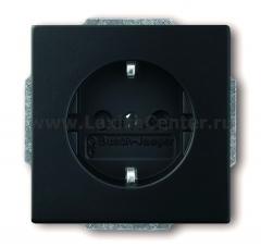 Розетка 2Р+E 10/16А 250В с защитой синий solo/future attica (ABB) [BJE20 EUCKS-88] 2013-0-5249