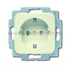 Розетка 2Р+E 10/16А 250В салатный spring (ABB) [BJE20 EUC-218] 2011-0-3799