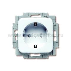 Розетка 2Р+Е 16А cо шторками альпийский белый Reflex SI (ABB) [BJE20 EUCKS-214] 2013-0-4656
