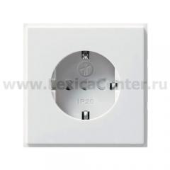 Розетка 2Р+Е белый глянцевый alpha exclusive (ABB) [BJE20 EUC-24G] 2011-0-3124