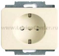 Розетка 2Р+Е с защитой кремово-белый alpha nea (ABB) [BJE20 EUCKS-22G] 2013-0-5240