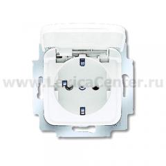 Розетка 2Р+Е16А c крышкой альпийский белый Reflex SI (ABB) [BJE20 EUK-214] 2018-0-0778