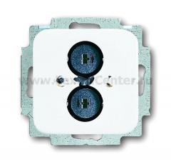Розетка для громкоговорителя альпийский белый Reflex SI (ABB) [BJE2147 U-214] 1723-0-0162