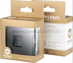 Розетка Ethernet RJ-45 (черный матовый) Werkel Черный матовый WL08-RJ-45