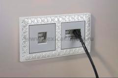 Розетка Ethernet RJ-45 (серебряный) Werkel Серебряный WL06-RJ-45