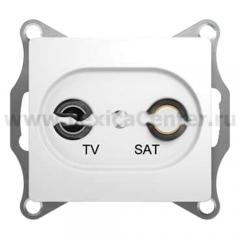 SE Glossa Бел TV-SAT Розетка проходная 4DB (GSL000198)