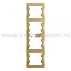 SE Glossa Титан Рамка 4-я, вертикальная (GSL000408)