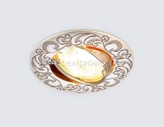 Светильник Ambrella 710 PS/N Перламутровое серебро/никель MR16