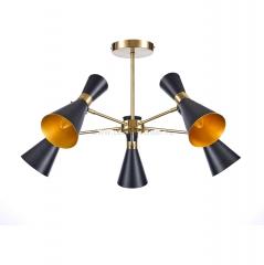 Светильник Colosseo optima 72429/5C матовый черный/бронза