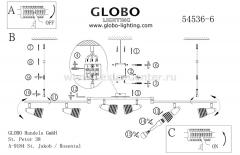 Светильник Globo 54536-6 Caleb