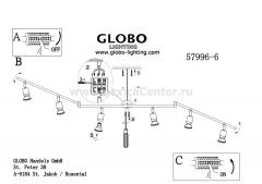 Светильник Globo 57996-6 Fina