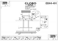 Светильник Globo 6844-4H